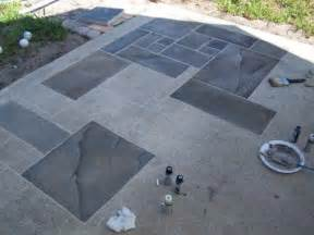 Outdoor Floor Painting Ideas Concrete Patio Faux Slate W I P Wetcanvas Home Concrete Porch To Look And Cement
