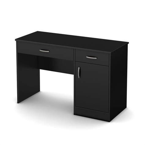 Black Small Computer Desk South Shore Axess Small Computer Desk In Black 7270070
