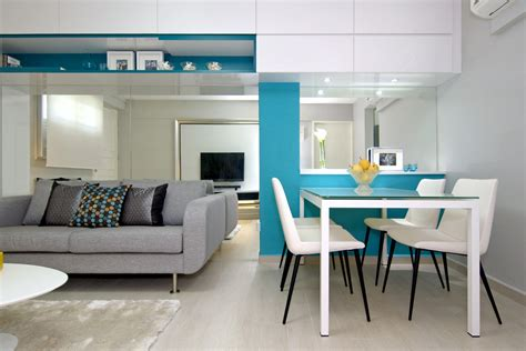 Blue Room Lounge by Singapore Flat Multifunctional Makeover