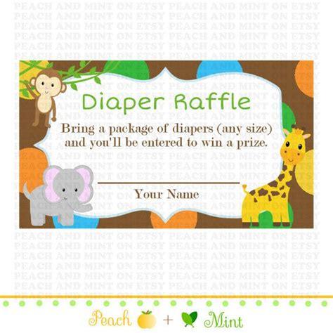 printable safari or jungle baby shower diaper raffle