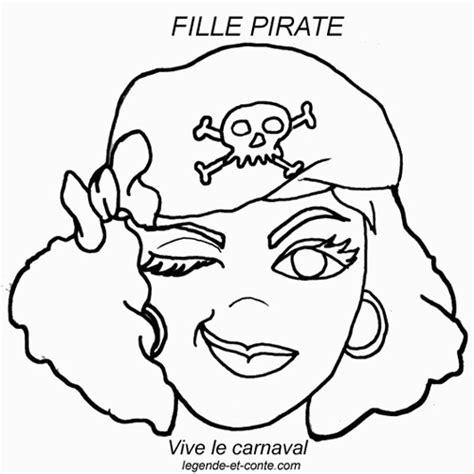 Coloriage Masque Pirate