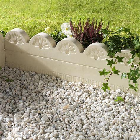 bordures de jardin en ciment bordure droite grecoflor b 233 ton naturel h 25 x l 75 cm leroy merlin