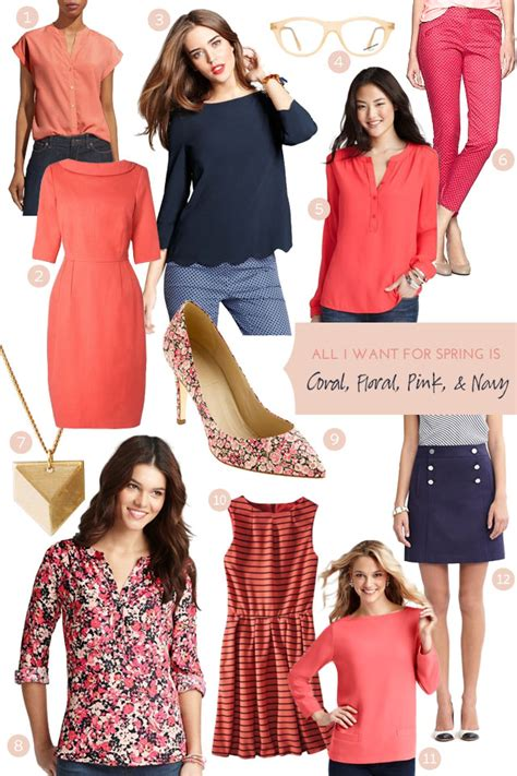 Making It Lovely | coral floral pink and navy making it lovely