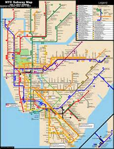 New York Subway Maps by Www Nycsubway Org New York City Subway Route Map By