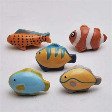 fish drawer pulls cabelas 10pcs cartoon fish ocean style ceramic furniture handle
