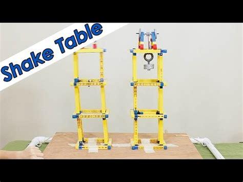 Build An Earthquake Shake Table Diy Youtube Earthquake Shake Table