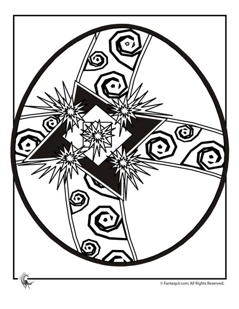 intricate easter coloring pages easter egg coloring page 4 woo jr kids activities