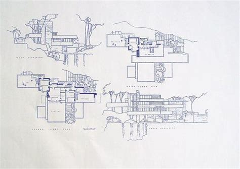 frank lloyd wright blueprints frank lloyd wright fallingwater blueprint by