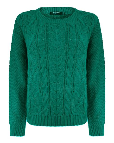 knitted womens jumpers womens cable knit sleeve knitted jumper