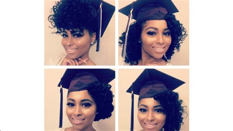 graduation hairstyles natural hair how to curly natural hair graduation cap styles prom