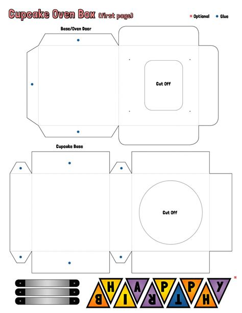 cupcake oven box template page 1 by bohmischeart on