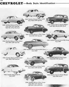 1950s Chevrolet Models Identifying 1946 1953 Chevrolet Automobiles Route 66
