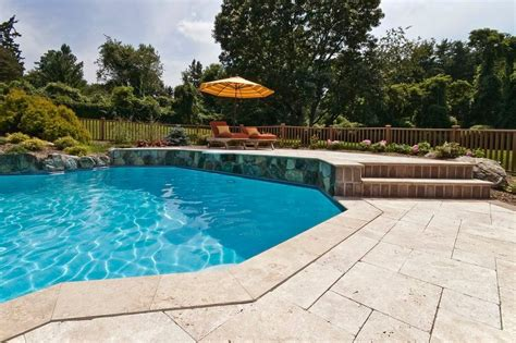 Patio And Pool Hardscapes by Built In Pool Spill Spa