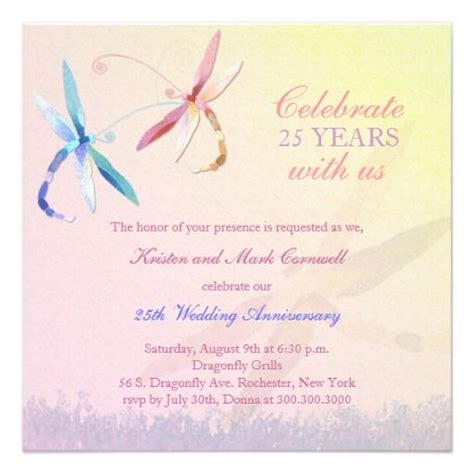 dragonfly wedding invitation template 186 best images about anniversary invitations on