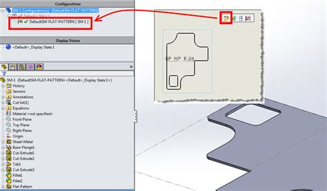pattern a sketch solidworks flat pattern view displays formed part instead of flat pattern