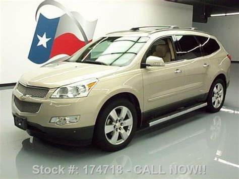 how cars engines work 2009 chevrolet traverse navigation system sell used 2009 chevy traverse ltz dual sunroof nav dvd 20 s 75k texas direct auto in stafford
