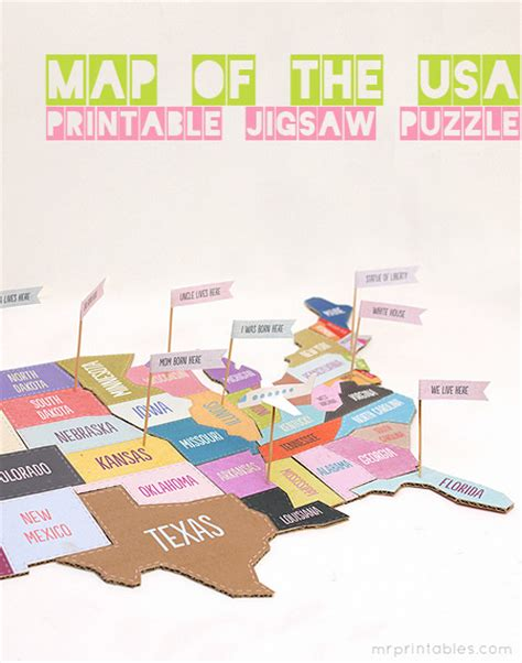 map of the united states puzzle printable 19 united states inspired crafts do small things with