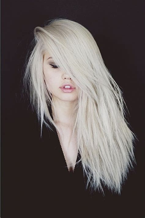 images of hair bleached white debby ryan straight platinum blonde choppy layers side