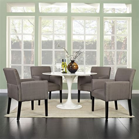 chloe armchair upholstery gray set of 4 dcg stores