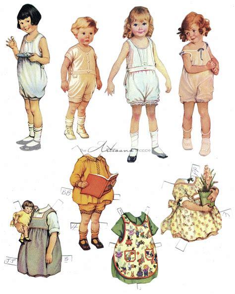 vintage paper doll digitial download by yourcraftephemera vintage paper doll collection digital download printable