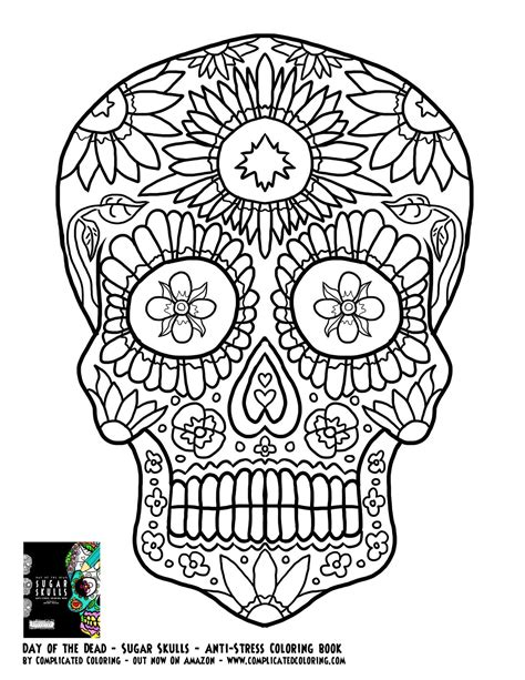 coloring pages for adults skulls day of the dead sugar skulls complicated coloring free