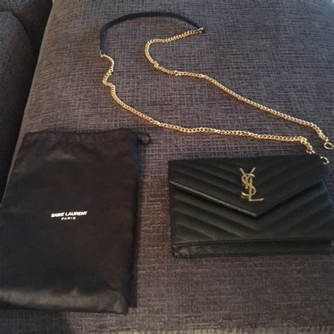 Yes Laurient Woc So Black yves laurent bnwot ysl small woc black with gold hardware from d s closet on poshmark