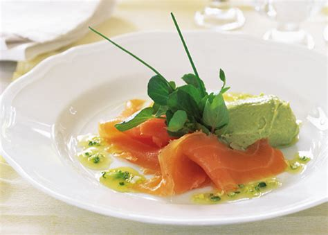 dinner recipes starters smoked salmon with orange dressing and avocado p 226 t 233