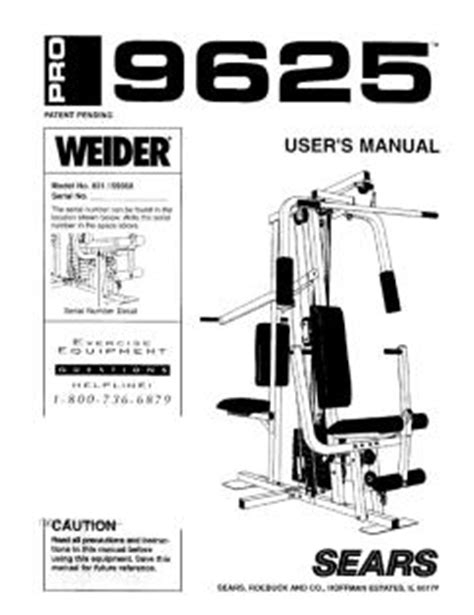 831 159360 weider pro 9625 exercise machine