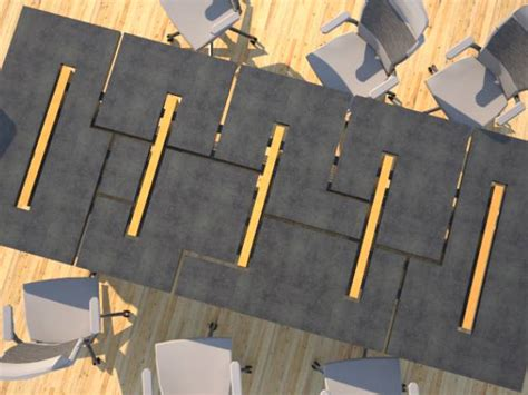 Concrete Conference Table Concrete Conference Table Mixed Design Geometric Series