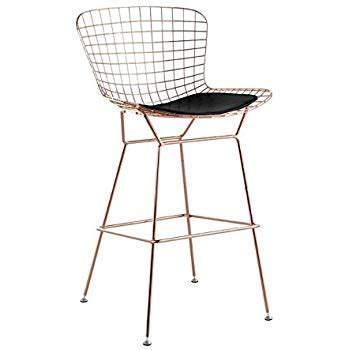 Bertoia Bar Stool Gold by Bertoia Style Wire Counter Stool In Gold