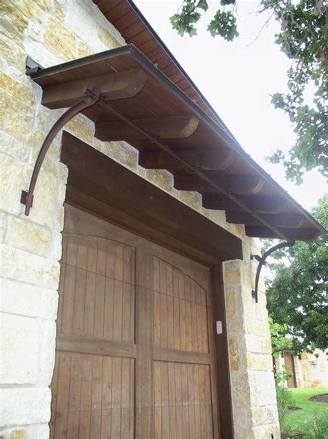 garage door shed roof  iron bracket support