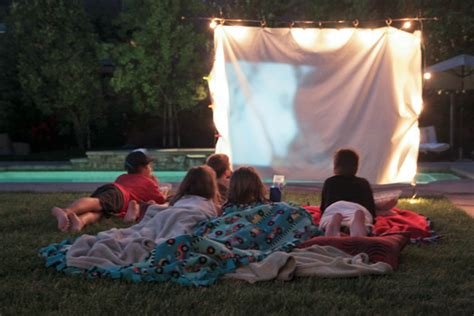 backyard movie night fun theme party ideas for summer