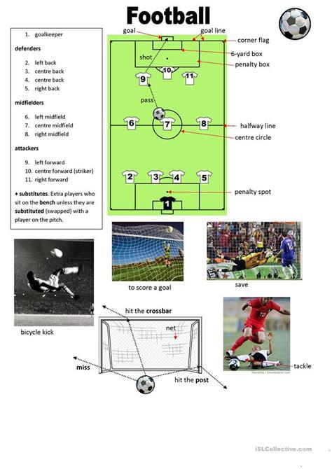 football vocabulary worksheet free esl printable