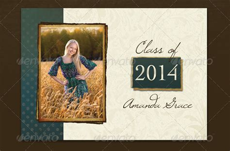 senior templates for photoshop free 20 fantastic psd graduation announcement templates free