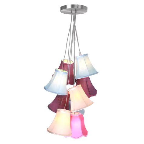 Multi Coloured Pendant Light Pendant Light Tiered 9 And 5 Multi Coloured Shades Ceiling Hanging Lights Estoreuk For All