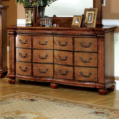 And Dresser Shop Furniture Of America Bellagrand Antique Tobacco Oak 6