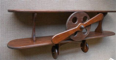 wood airplane shelf aviation decor airplane shelf