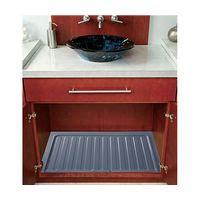 Rev A Shelf Sink Base Drip Tray by 28 1 2 Ploymer Vanity Sink Base Drip Tray Silver Finish