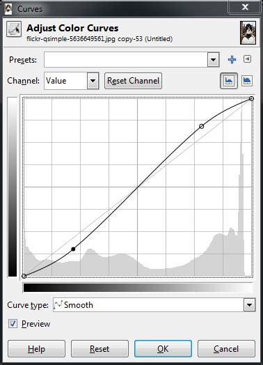 download pattern shaped curve gimp basic color curves