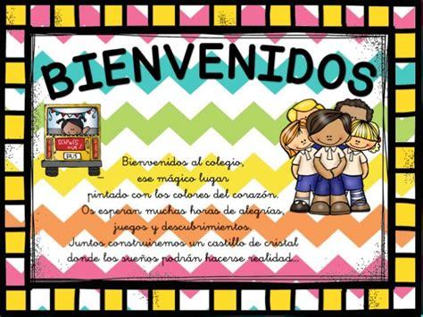 imagenes educativas de bienvenida carteles de bienvenida infantil y primaria3 orientaci 243 n