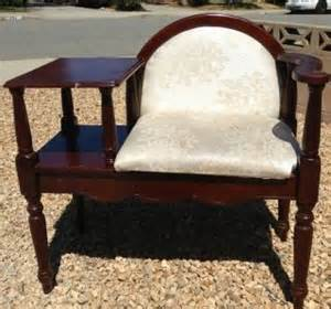 antique gossip bench phone table vintage antique telephone table gossip bench chair 40s 50