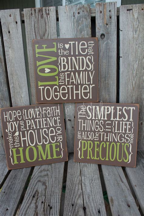 primitive family home wood sign family wedding