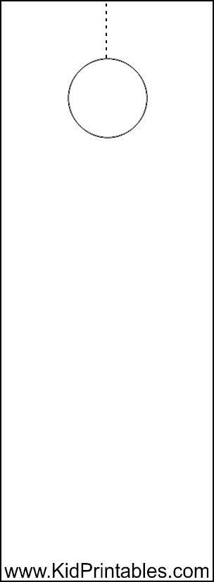 How To Create A Door Hanger Flyer Party Invitations Ideas Door Knob Flyer Template Free