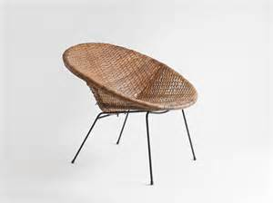 Items similar to vintage mid century basket chair lounge dining modern retro woven wicker