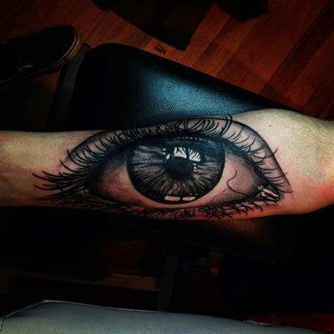 tattoo eye arm arm realistic eye tattoo by mikael de poissy