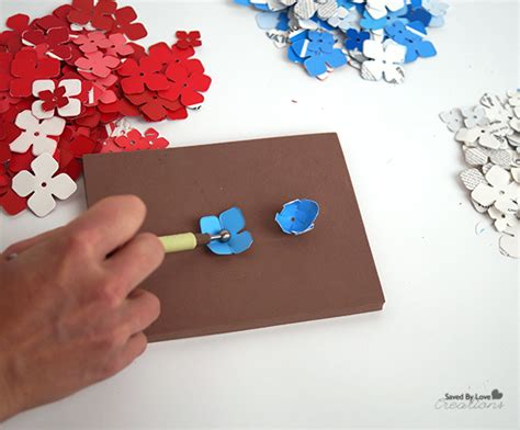 How To Make A Paper Die - diy patriotic paint chip paper hydrangeas tutorial