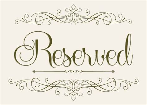 Reserved Seating Clipart Clipground Reserved Seating Signs Template