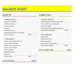 Template Balance Sheet by 38 Free Balance Sheet Templates Exles Template Lab