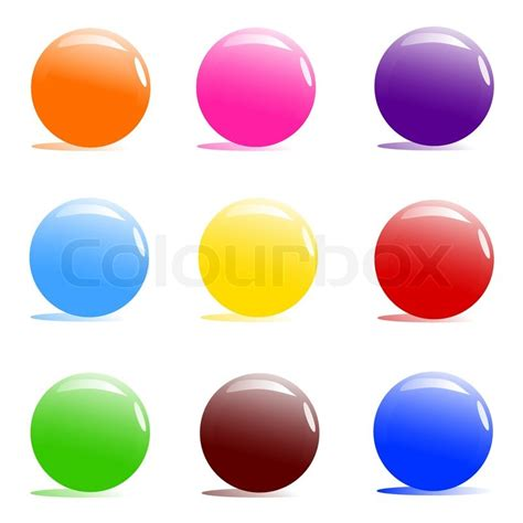 color balls vector illustration of assorted color balls on white