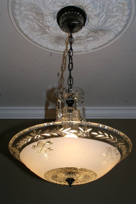 1940s ceiling light fixtures 1940s antique frosted glass art deco hanging light fixture